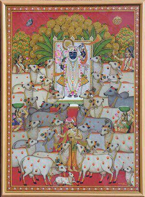 Shree nathji with his dear holy cow