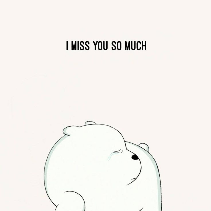 """14.4k Likes, 566 Comments - We Bare Bears (@webarebears.official) on Instagram: """"Tag sombody you miss when you're alone #icebear #sad #crying #socute"""""""