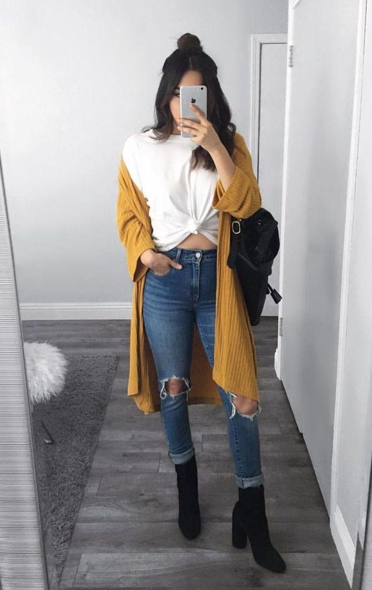 30 süße lässige Wintermode-Outfits für Teenage…