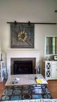 barn door tv cover, diy, doors, how to, repurposing upcycling, wall decor