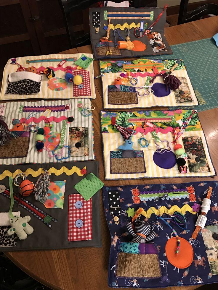 Alzheimer's Activity Mats (Fidget mats) I made for a local memory care facil… – Fidget