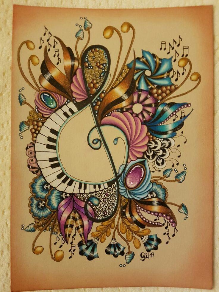 Musik mit Zentangle von Kathrin Güssow