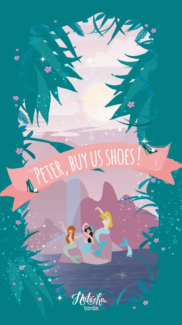 Peter Pan Mermaid Shoes iPhone Wallpaper Disney | iPhone ...