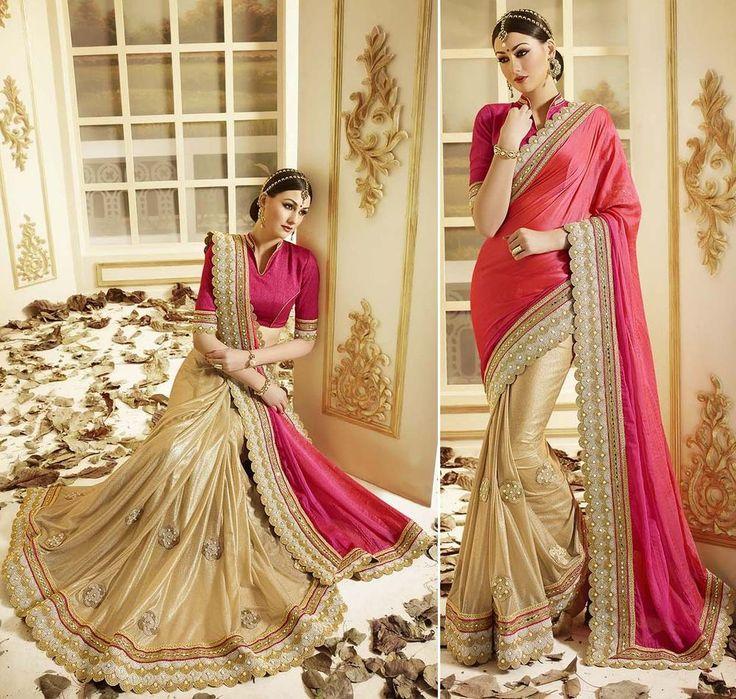Indian Designer Embroidery Saree Sari Women Wedding Bollywood Party Bridal Wear…
