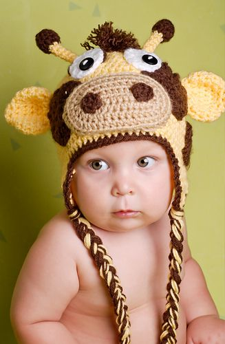 Gary the Giraffe Hat-Used to be free, now is included in a 50 pattern ebook for $20.00.