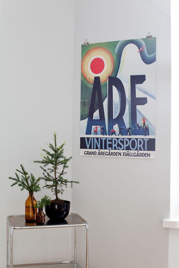Vintersport i Åre. Design by Göte Hennix