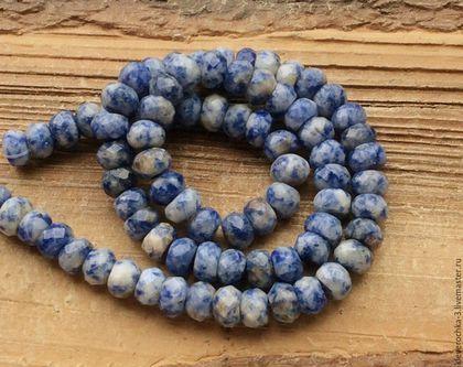 Для украшений ручной работы. Ярмарка Мастеров - ручная работа. Купить Содалит 8 мм - 10 шт рондель огранка бусины камни для украшений. Handmade.