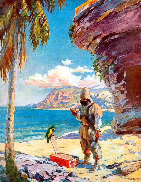 Robinson Crusoe jello - http://www.wpclipart.com ...