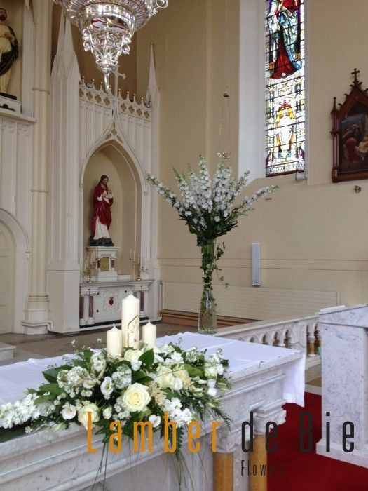 204 best church wedding decorations images on pinterest for Altar decoration wedding