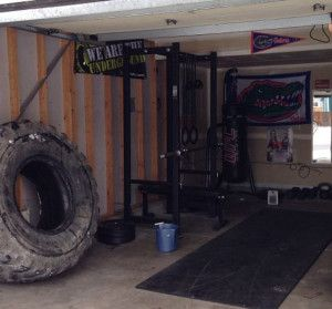 I would love to have a tire like that. Nice garage gym too