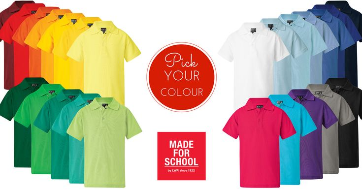 Year after year, this shirt's a winner. Our classic pique knit polo, available in 25 different colours, there's one for school, sport and play!