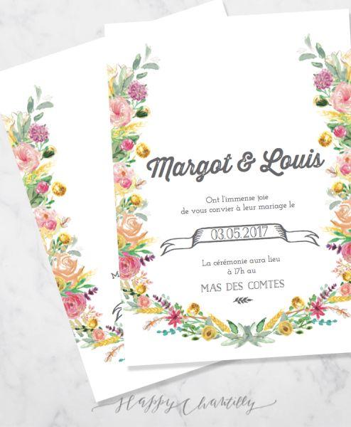 faire-part-mariage-fleurs-couronne-aquarelle-happy-chantilly