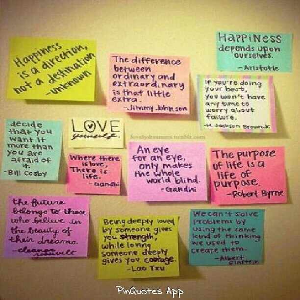 Quotes On Sticky Notes: Sticky Note Quotes On Mirrors :)
