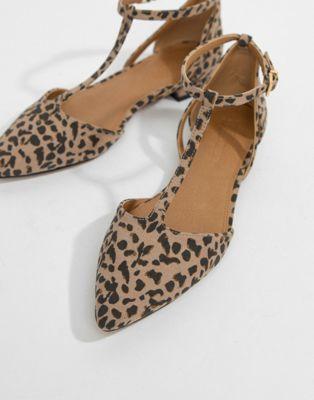 63c37fc412015 DESIGN Limelight Pointed Ballet Flats in leopard print | Shoe Love ...