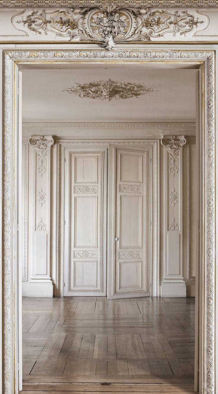 Beautiful moldings and panel doors.