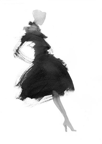 épinglé par ❃❀CM❁✿Elegant watercolour fashion illustration // Aurore de La Morinerie