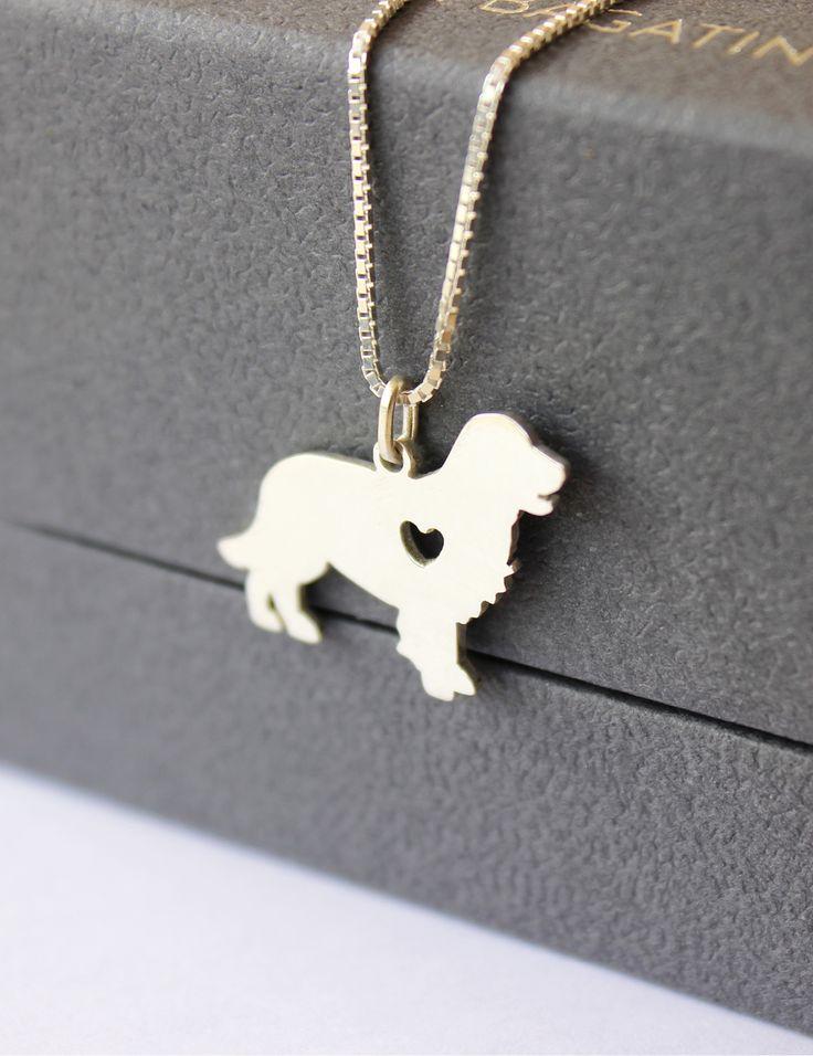 Colar de golden #golden #dog #pet #silver #necklace #jewel #handmade #design #art