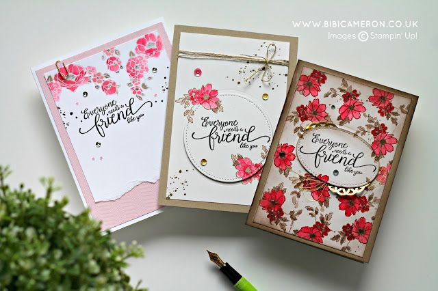 Stampin' Up! Suite Sentiments and Timeless Love Stamp Sets - GDP065   UK Independent Stampin' Up! Demonstrator Bibi Cameron