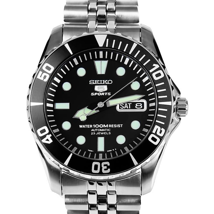 Seiko 5 Sports Automatic Mens Diver Watch SNZF17K SNZF17 Jubilee