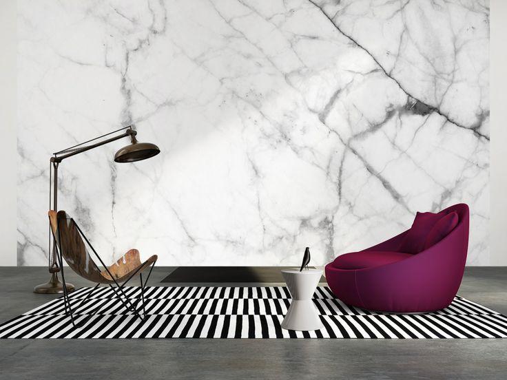 Tapeten im Wohnzimmer; Architects Paper Fototapete «Marmorwand» 470829