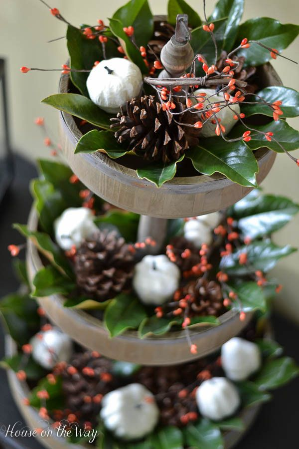How to turn home decor into fall decor home decor fall - Etagere weihnachtlich dekorieren ...