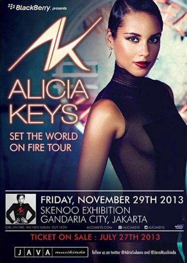 """ALICIA KEYS Set The World One Fire Tour"""
