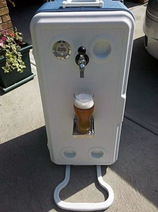 Corny Cooler Portable Kegerator Diy Home Brewing Beer