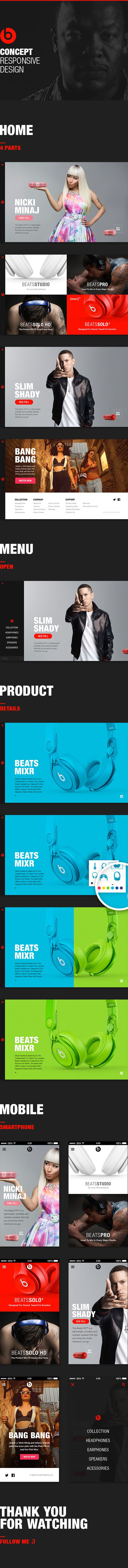 Beats by Dre - Responsive Design Concept on Web Design Served
