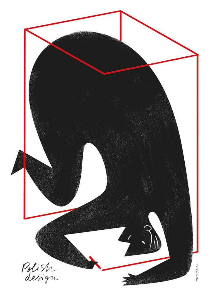 Pawel Jonca - Poster for an exhibition of Polish design in Milan.