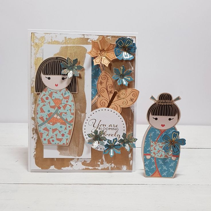 Mixed media cover designed by Jennifer Kray using Craftowork Cards Kimono Collection.