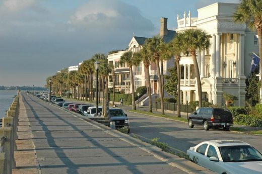 "Charleston SC - where the buildings are as beautiful as the people, and we say ""pee-can"", not ""pa-caan""."