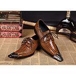 Hombre Zapatos Cuero Primavera Verano Zapatos formales Innovador Oxfords Remache Hebilla para Boda Fiesta y Noche Negro 2018 - $62.99