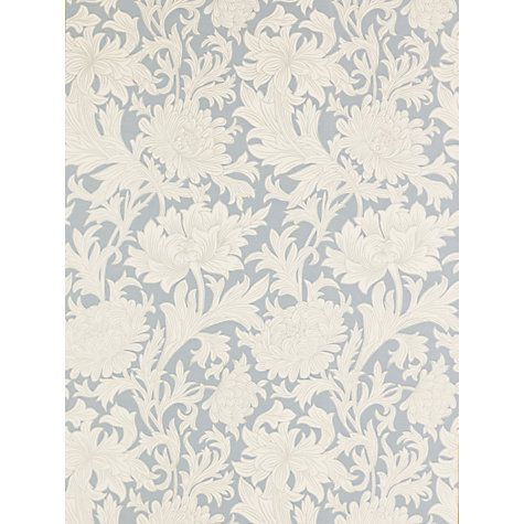 Morris & Co Chrysanthemum Toile, China Blue / Cream, DMOWCH101 Online at johnlewis.com