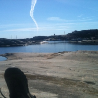 I really didn't have a worry in the world right there and then :))  At Verdens Ende in Tjøme, Norway
