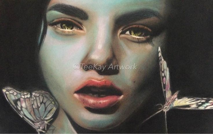 Teekay Artwork Spring  Original - Pastel  A4 matted in white with black frame Print - A3 in a 30 x 40 frame