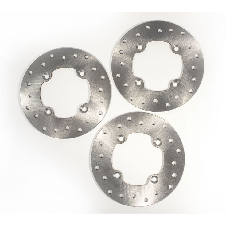 2008 2009 2010 2011 Can-Am Renegade 500 Front and Rear Brake Rotor Discs, Silver stainless steel