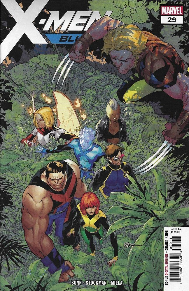 X Men Blue Comic Issue 29 Modern Age First Print Marvel 2018 Bunn Stockman Milla Marvel Super Heroi Herois Marvel