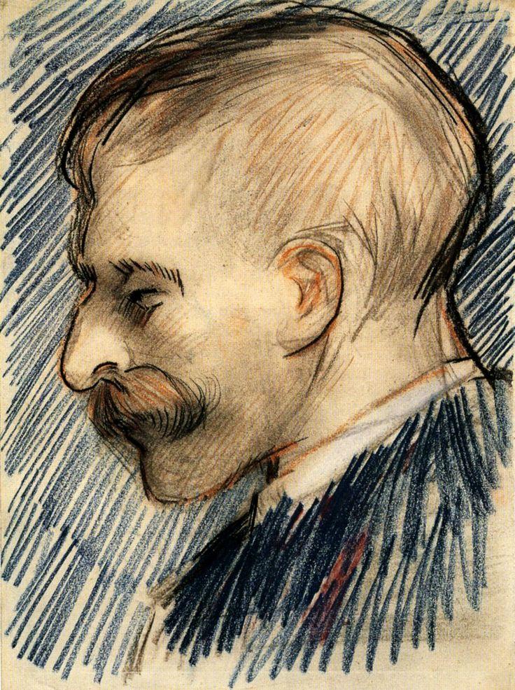 Head of a Man (Possibly Theo van Gogh), 1887  Vincent van Gogh