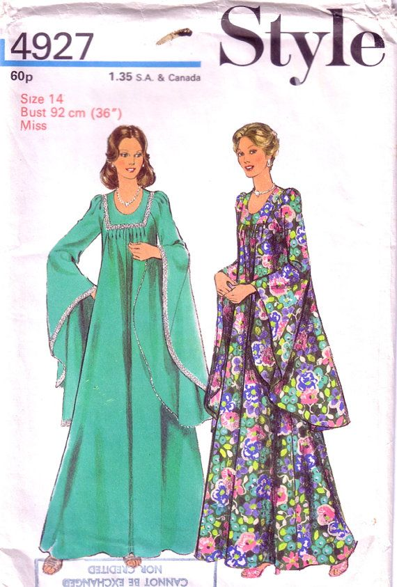 1970's Misses' Dress Pattern / UNUSED vintage sewing pattern for hostess dress £6.00 www.hurdyburdy.etsy.com
