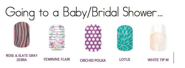 which jamberry nail wraps would you wear to a baby or wedding shower