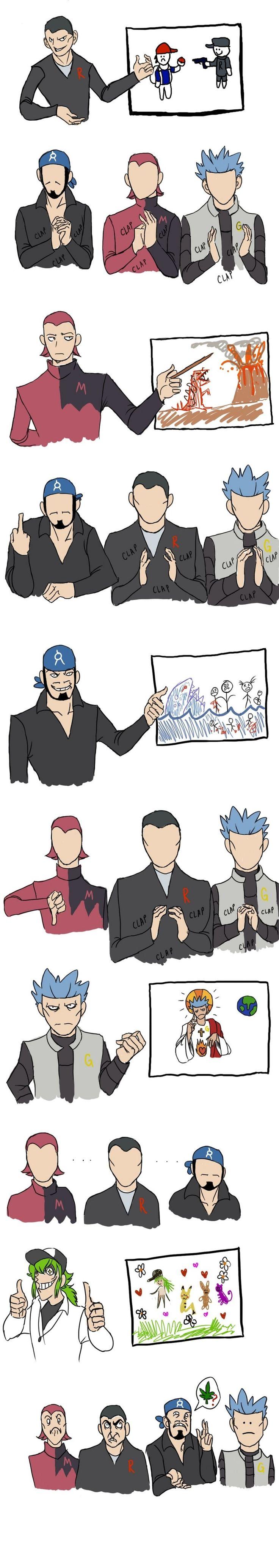 On the theory of Pokemon villains.