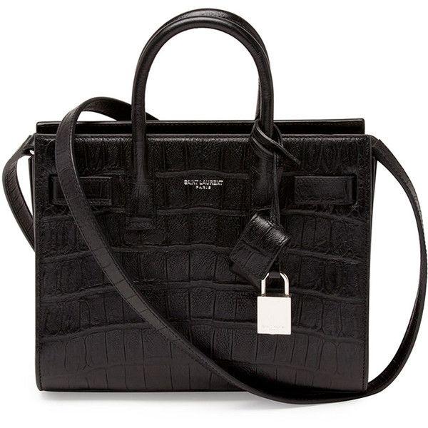 Saint Laurent Sac de Jour Mini Crossbody Bag, Black found on Polyvore