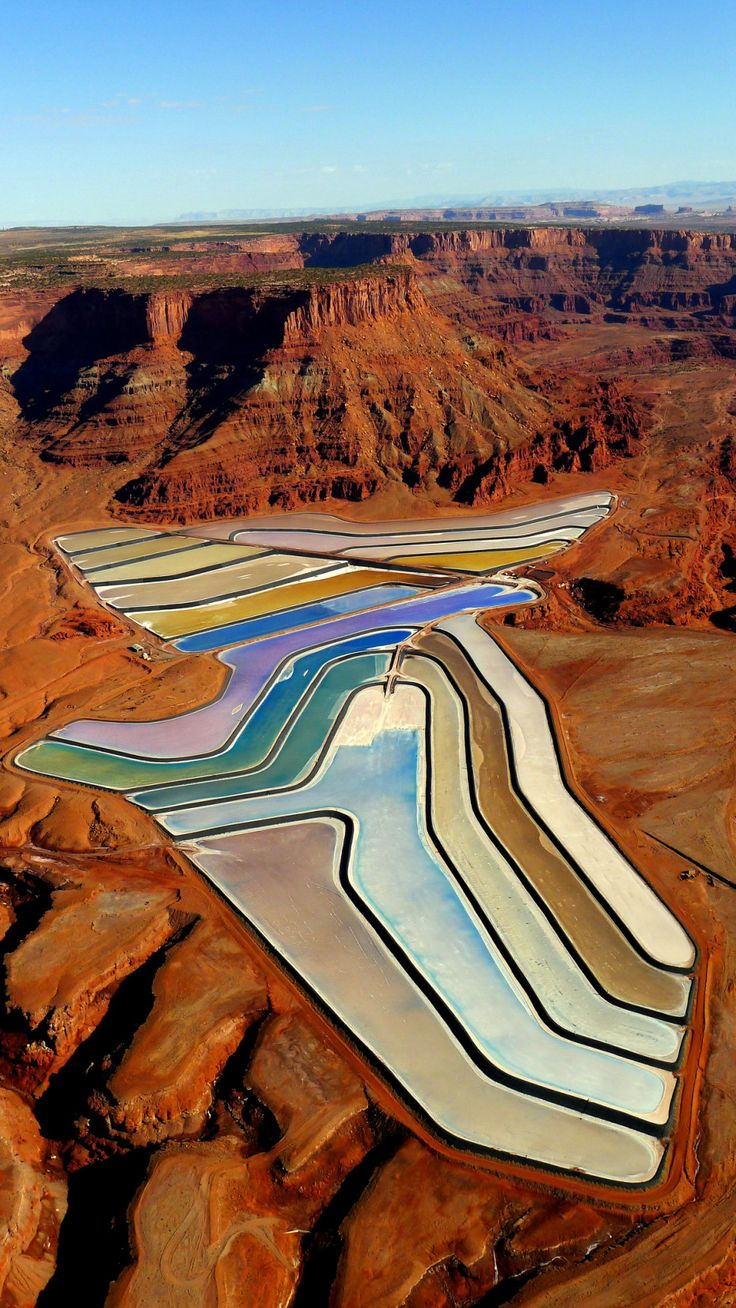 Potash Evaporation Ponds, Moab, Utah-peterfromtexas (Tumblr)