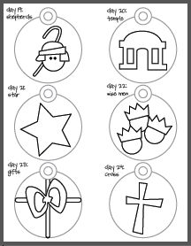 Printable Jesse Tree Ornaments Coloring Pages