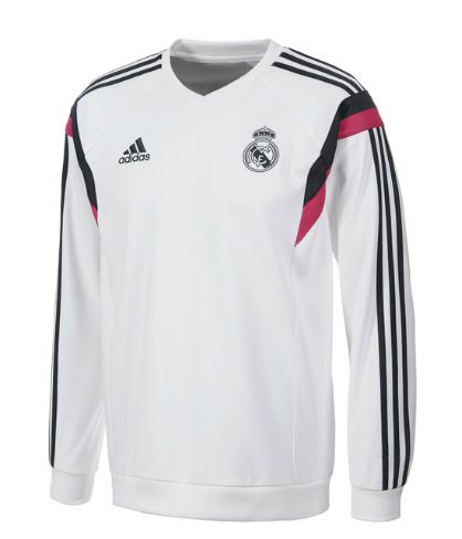 Real Madrid Training Sweat Top - White Real Madrid Official Merchandise Available at www.itsmatchday.com