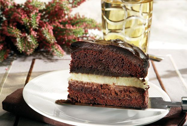 Divine Triple Chocolate Dessert Cake