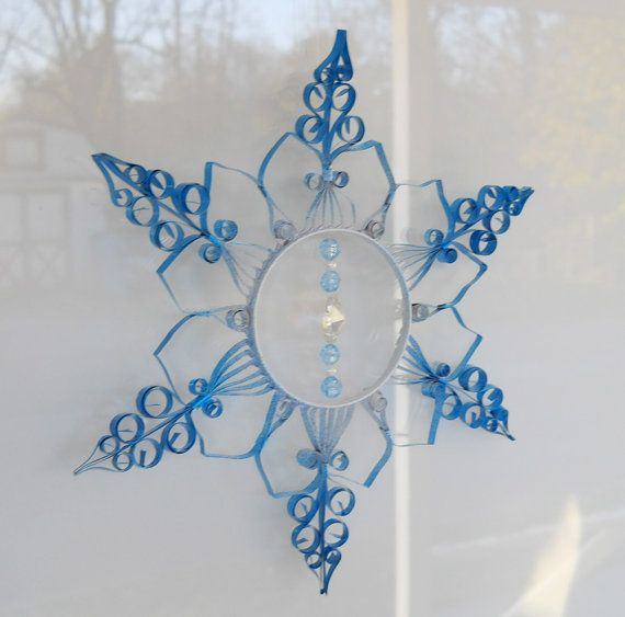 aluminum can quilled snowflake