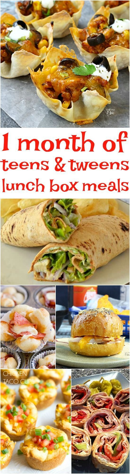 recipes -1 Month of Lunchbox Ideas for Tweens and Teens -try to remember when packing their lunches that meals high in fiber and protein will keep them full longer.