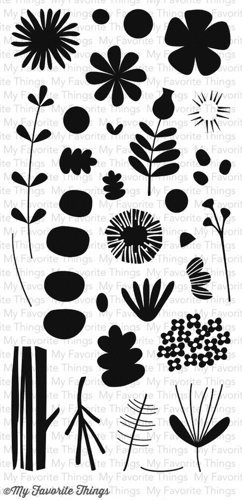 My Favorite Things FALL FLORALS Clear Stamps CS81 zoom image