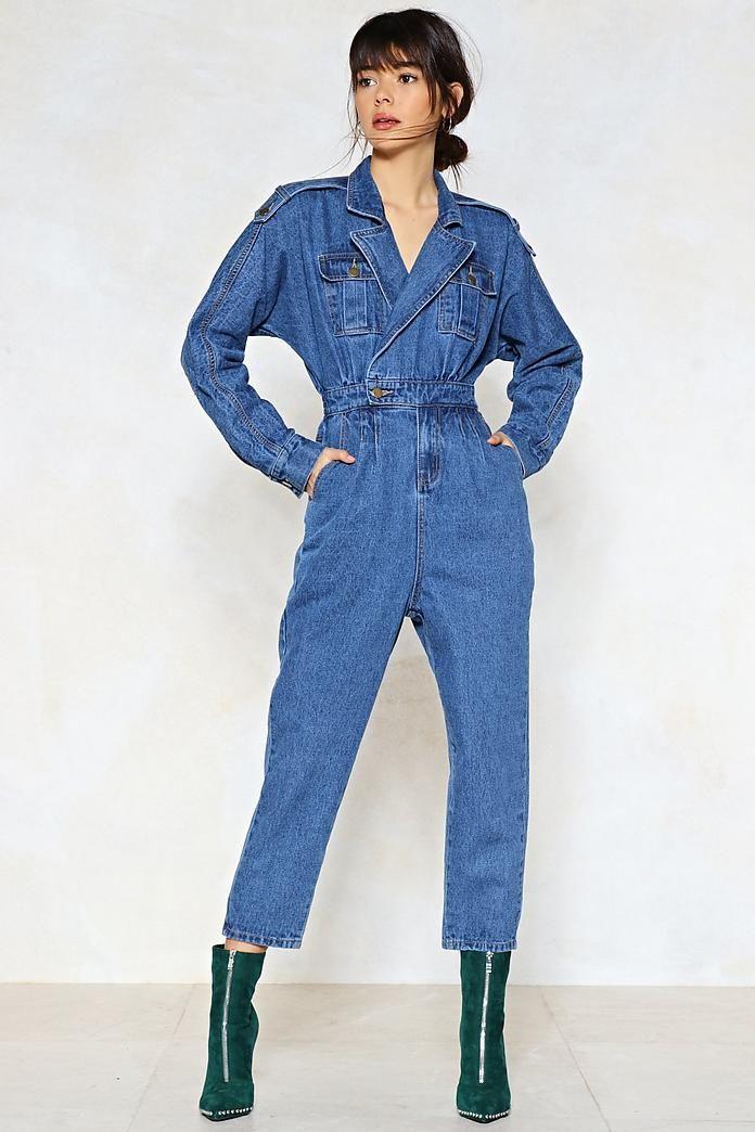 Blue Jean Baby Denim Jumpsuit
